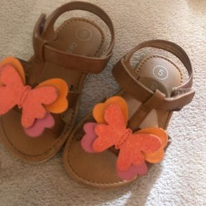 Cat and jack size 5 toddler butterfly sandals